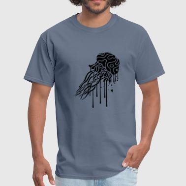 graffiti drop spray stamp jellyfish swimming under - Men's T-Shirt