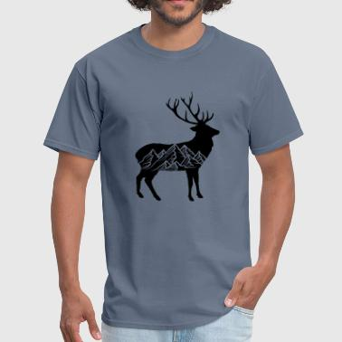 Riding Sayings black cool pattern deer deer antlers hunters mount - Men's T-Shirt