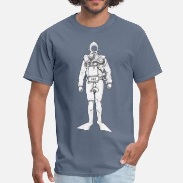 Rebreather Vintage British Royal Navy Rebreather Diver - Men's T-Shirt