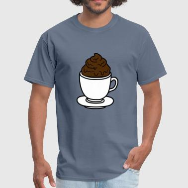 Shit Poop cup coffee chocolate cocoa tea shit feces disgusti - Men's T-Shirt