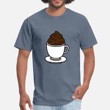 Pooping Shit cup coffee chocolate cocoa tea shit feces disgusti - Men's T-Shirt