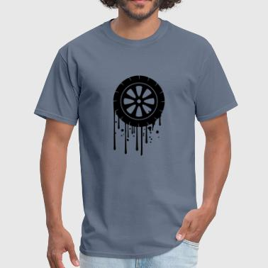 Mechanic Graffiti tire graffiti drip mechanic car driving license dr - Men's T-Shirt