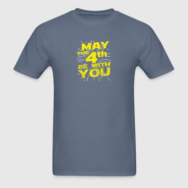 May The 4th Be With You Distressed - Men's T-Shirt