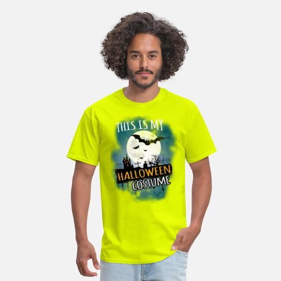 Halloween T-Shirts - Halloween - This is my halloween costume - Men's T-Shirt safety green