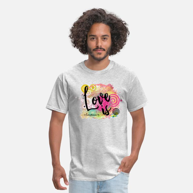 Hypnotic LOVE is by Visual Messages Men's T-Shirt - heather gray