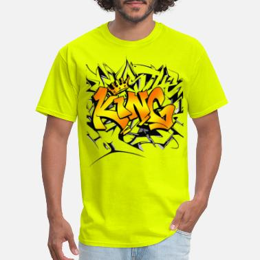 Graffiti Word King Word Graffiti background - Men's T-Shirt