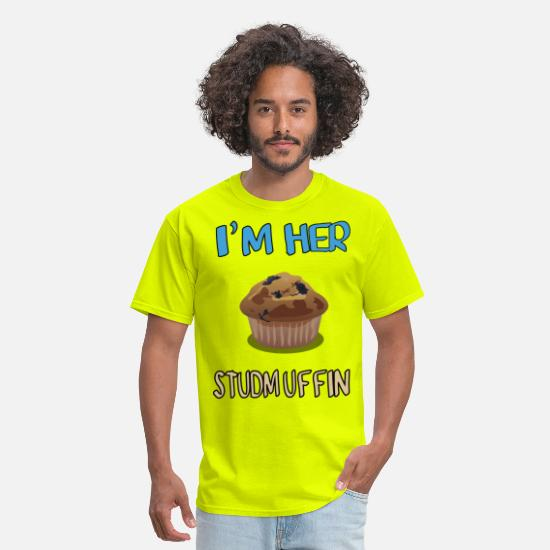 Funny T-Shirts - im_her_studmuffin - Men's T-Shirt safety green