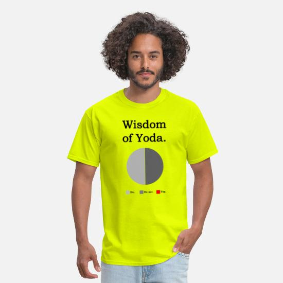 Geek T-Shirts - Wisdom of Yoda - Men's T-Shirt safety green