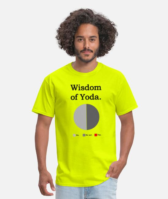 There Is No Try T-Shirts - Wisdom of Yoda - Men's T-Shirt safety green