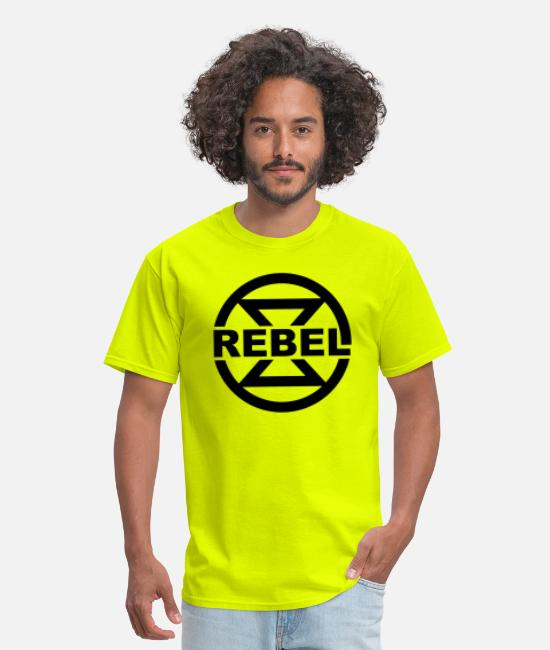 Rebel T-Shirts - Rebel, hourglass, symbol, climate, environment, - Men's T-Shirt safety green