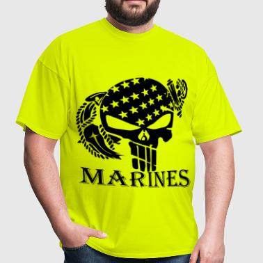 Skull & Anchor Marines     ©WhiteTigerLLC.com - Men's T-Shirt