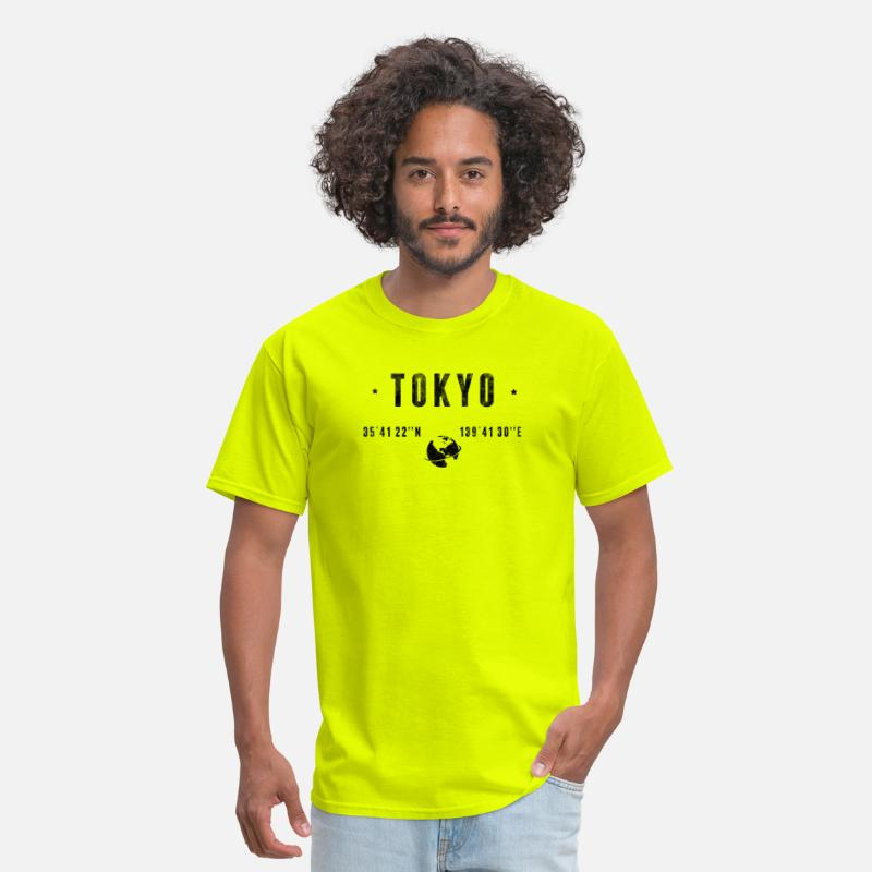 Latitude T-Shirts - Tokyo - Men's T-Shirt safety green