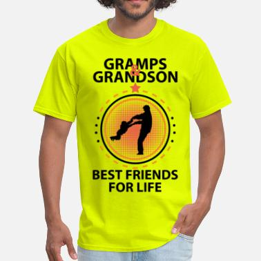 Best Grandson Ever Gramps And Grandson Best Friends For Life - Men's T-Shirt