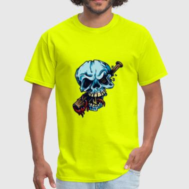 Baseball Bat Skull - Men's T-Shirt