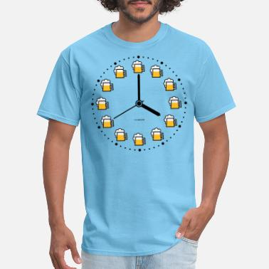 Beer Clock (Beer Time / Beer Hour / Watch) - Men's T-Shirt