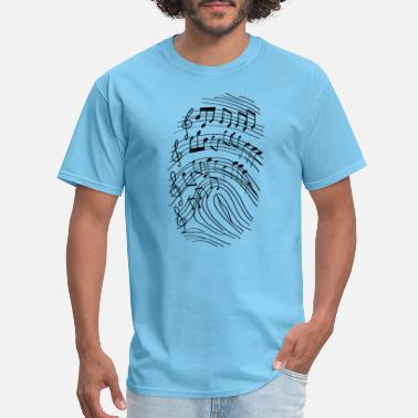 Goa Kids Music Musican's Fingerprint | Music DNA - Men's T-Shirt
