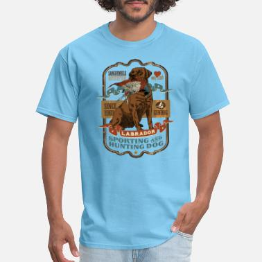 Hunting labrador_and_pheasant_c - Men's T-Shirt