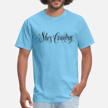 Country Of Birth She's Country - Men's T-Shirt