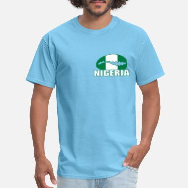Minna Nigeria national flag cauri on color - Men's T-Shirt