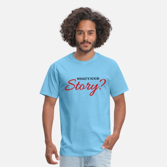 Story T-Shirts - What's your story? - Men's T-Shirt aquatic blue