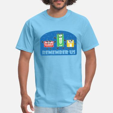 Funny Geek Audio Remember Us, Vintage, Cassette, VHS, Floppy Disk - Men's T-Shirt