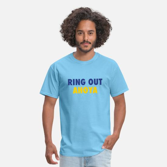 Football T-Shirts - Ring Out Ahoya - Men's T-Shirt aquatic blue