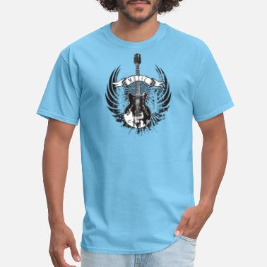 Guitar Wings Star guitar with wings music is life - Men's T-Shirt