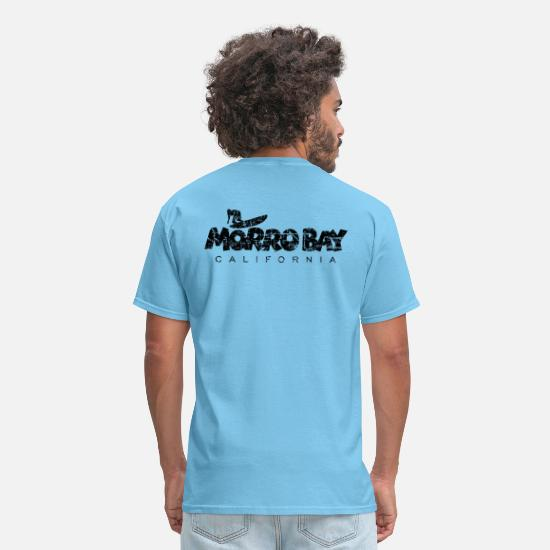 Bay T-Shirts - MORRO BAY CALIFORNIA Surfing - Men's T-Shirt aquatic blue