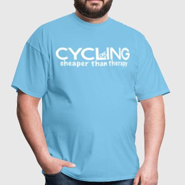 Cycling Cheaper Therapy - Men's T-Shirt