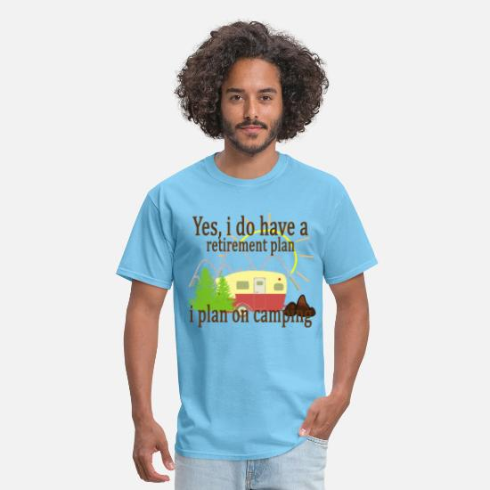 Retirement T-Shirts - yes_i_do_have_a_retirement_plan_i_plan_o - Men's T-Shirt aquatic blue