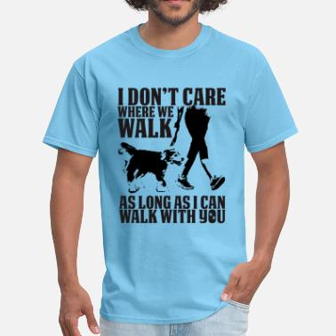 Walk The Dog WALKING DOG - Men's T-Shirt