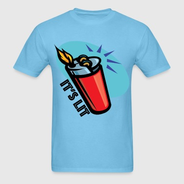 It's Lit retro lighter - Men's T-Shirt