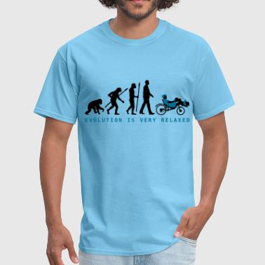 Evolution recumbent bicycle - Men's T-Shirt
