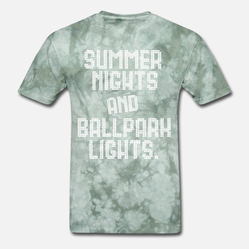 b08468845796 SUMMER NIGHTS BALL PARK LIGHTS Men s T-Shirt