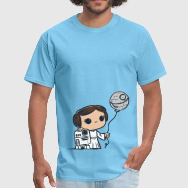 Han Solo Princess Leia Cute Star Wars kids comic - Men's T-Shirt