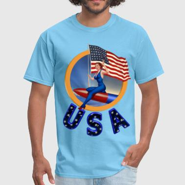Flag USA - Men's T-Shirt