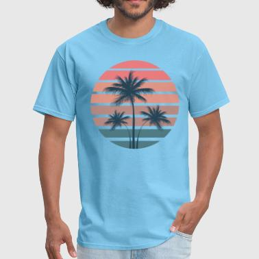 Summer Palm Sunset - Men's T-Shirt