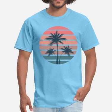 Palm Summer Palm Sunset - Men's T-Shirt