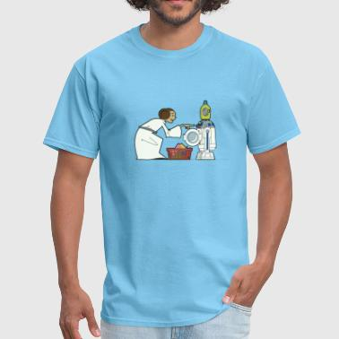 Funny Star Wars r2d2 and Leia comic - Men's T-Shirt