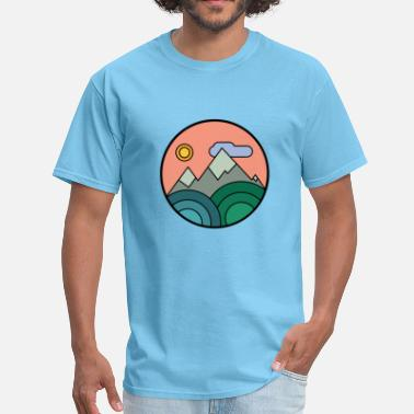 Naturalism Mountains Colours - Men's T-Shirt