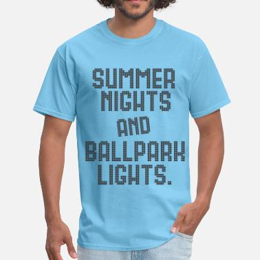 Ballpark SUMMER NIGHTS BALLPARK LIGHTS - Men's T-Shirt