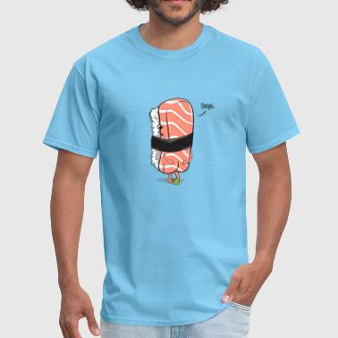 Pooping Asian Sushi Poops - Men's T-Shirt