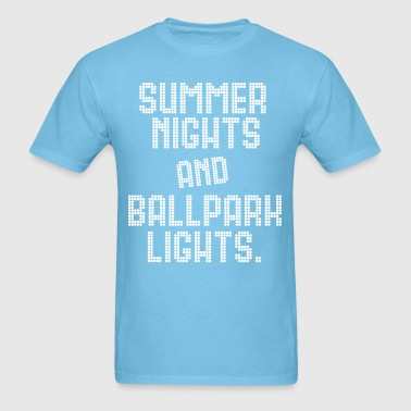 SUMMER NIGHTS BALL PARK LIGHTS - Men's T-Shirt