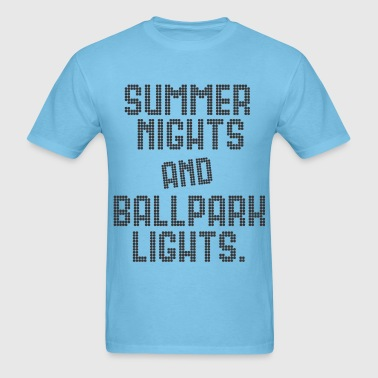 SUMMER NIGHTS BALLPARK LIGHTS - Men's T-Shirt