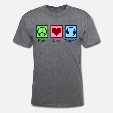 911 Dispatch Peace Love Dispatch Operator Dispatcher - Men's T-Shirt