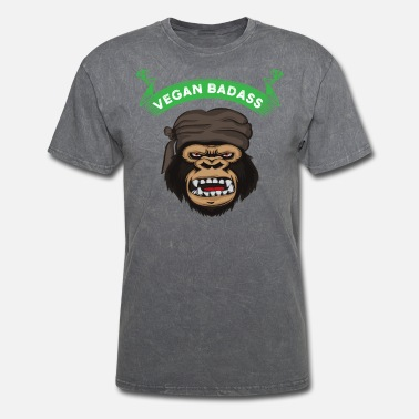 Gorilla Vegan Badass Gorilla Gym Power Monkey Veggie Food - Men's T-Shirt