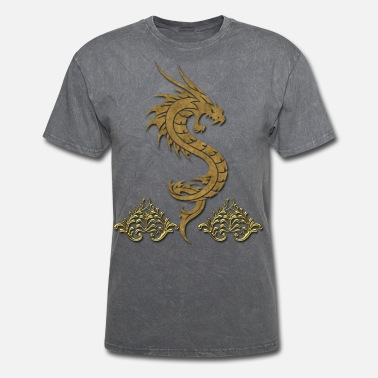 a0dd57af7 Wonderful golden chinese dragon - Men's T-Shirt
