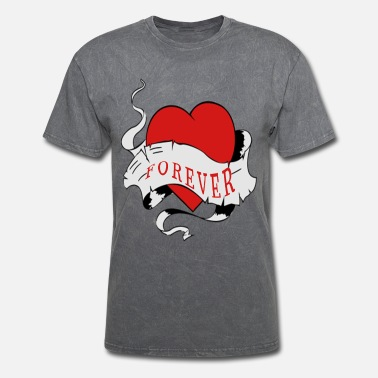 Forever love heart border infinity red - Men's T-Shirt