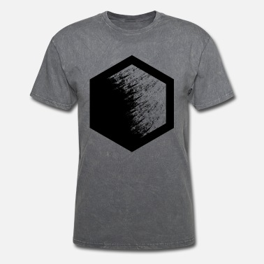 Black Hexagon Basic Hexagon (black) - Men's T-Shirt