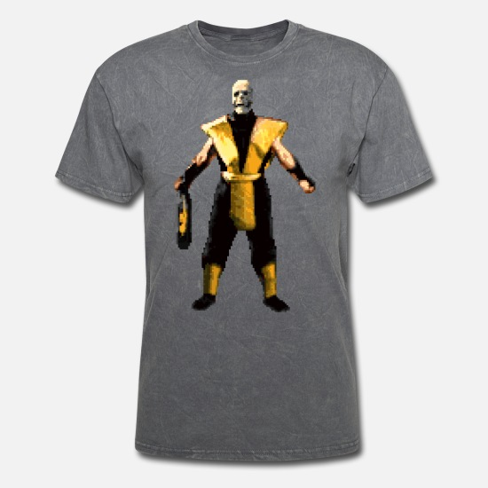 Mortal Kombat X Game THREE OF A KIND Scorpion 1-Sided Big Print Poly T-Shirt